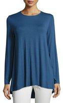 Eileen Fisher Lightweight Jersey Tunic, Denim, Petite