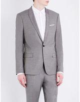 The Kooples Sharkskin-woven Slim-fit Wool Jacket