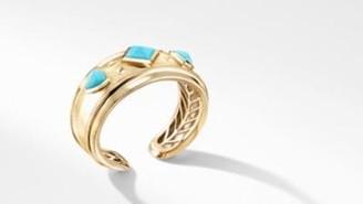 David Yurman Bold Renaissance Cuff Bracelet In 18K Yellow Gold With