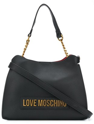 Love Moschino Logo Lettering Tote Bag