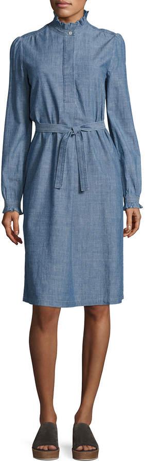 A.P.C. Astor Chambray Shirtdress, Indigo