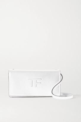 Tom Ford Tf Mini Metallic Leather Shoulder Bag - Silver