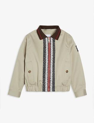Burberry Logo-print cotton Harrington jacket 6-14 years