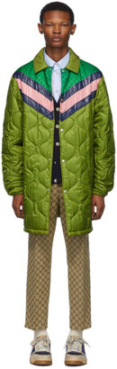 Gucci Green Quilted GG Coat