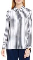 Vince Camuto Cargo Stripe Print Blouse (Regular & Petite)