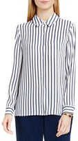 Vince Camuto Petite Women's Cargo Stripe Print Blouse