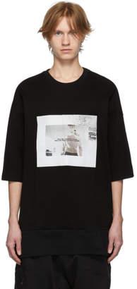 Julius Black Waffle Knit T-Shirt