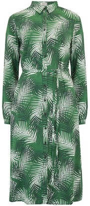Sugarhill Brighton Elspeth Shady Palm Midi Shirt Dress