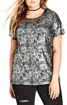City Chic Glam Metal Top