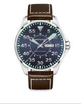 Hamilton Round Leather-Strap Watch