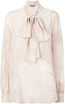 Alexander McQueen printed pussybow blouse