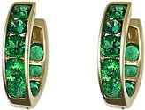 Talia Naomi - Emerald Green Pave Eternity Hoops