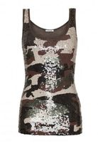 P.A.R.O.S.H. Top Sequins Camouflage
