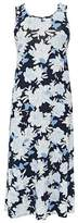Evans Navy Blue Floral Print Maxi Dress
