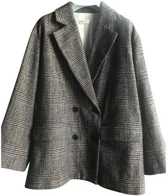 Masscob Brown Cotton Jacket for Women