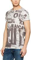 Lindbergh Men's All Over Printed Photo Tee S/S T-Shirt,L