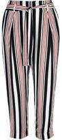 River Island Womens White stripe cropped pants
