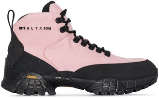Alyx Logo-Embossed Leather Hiking Boots
