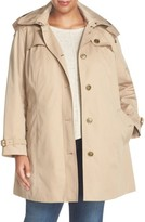 London Fog Plus Size Women's Single Breasted Trench Coat