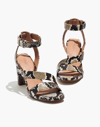 Madewell The Liv Sandal in Snake Embossed Leather