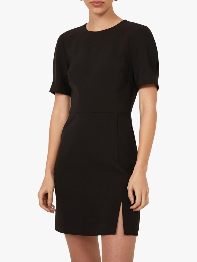 Warehouse Split Front Mini Dress, Black