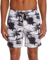 Sundek Palm Tree Print Swim Trunks