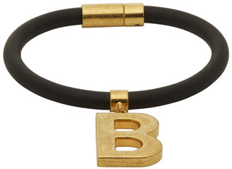 Balenciaga Black Elastic B Bracelet