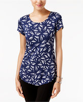 Alfani Petite Printed Shirttail-Hem Top, Only at Macy's