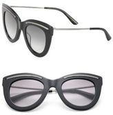 Bottega Veneta 49MM Intrecciato-Trim Cat Eye Sunglasses