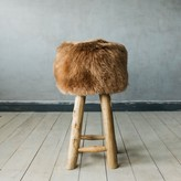 Graham and Green Shawn Sheepskin Bar Stool In Taupe