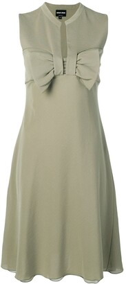 Giorgio Armani Pre-Owned 1990's Bow Detail Dress