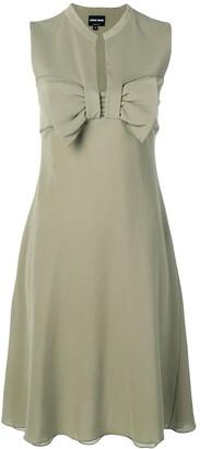 Giorgio Armani Pre-Owned 1990's bow detail dress