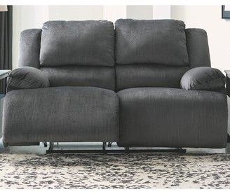 Winston Porter Heiko Reclining Loveseat Upholstery Color: Charcoal, Reclining Type: Manual