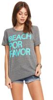 Chaser Beach Por Favor Tee in Streaky Grey