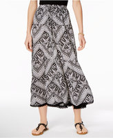 NY Collection Drawstring Maxi Skirt