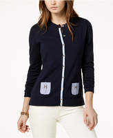 Tommy Hilfiger Cotton Chambray-Pocket Cardigan