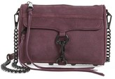 Rebecca Minkoff Mini MAC Nubuck Convertible Crossbody Bag - Burgundy