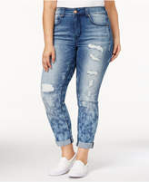 Melissa McCarthy Trendy Plus Size Ripped Skinny Jeans