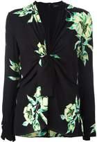 Proenza Schouler tie-front floral blouse
