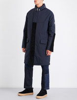McQ Faux-fur trim hooded quilted shell coat