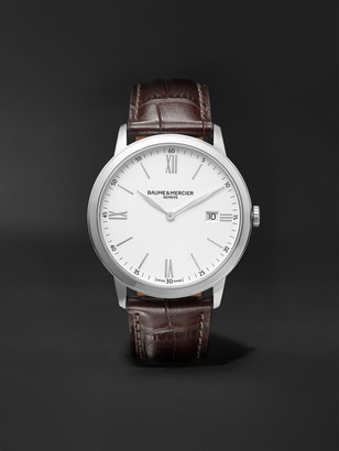 Baume & Mercier Classima 40mm Steel And Croc-Effect Leather Watch, Ref. No. M0a10507