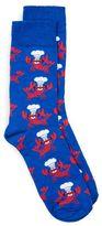 Topman Blue Lobster Chef Socks