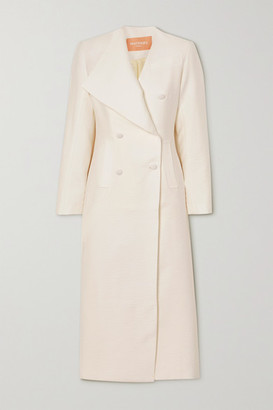 MATÉRIEL Double-breasted Cloque Coat - White