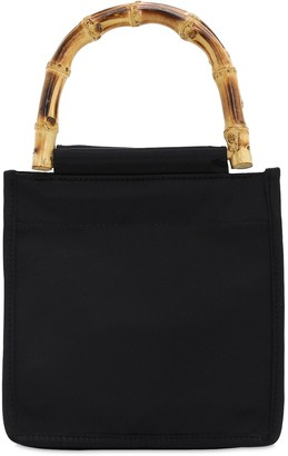 Hai Black Bamboo Silk Top Handle Bag