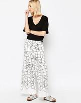 Asos Wide Leg Pants in Cube Print