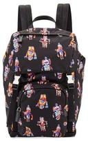 Prada Robot Nylon Utilitarian Backpack, Black