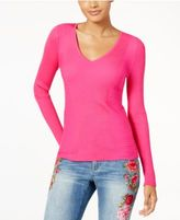 INC International Concepts Ribbed V-Neck Sweater, Created for Macy's