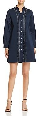 Badgley Mischka Embellished Shirt Dress