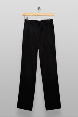 Topshop Womens Tall Black Slouch Trousers - Black