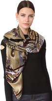 Yigal Azrouel Metallic Devore Scarf